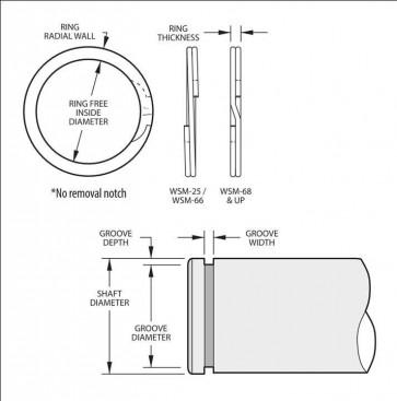 External Spirolox Retaining Rings Type XWSM Heavy Duty Inch