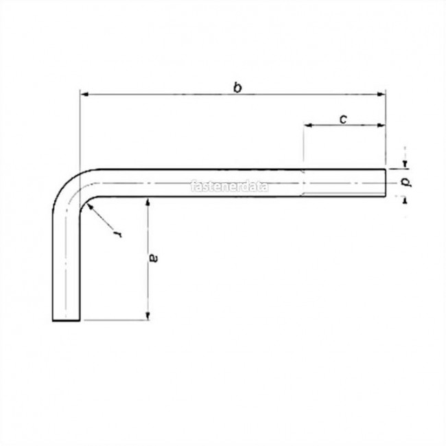 Right Angle Bolt : Fastenerdata metric coarse bent l right angle hook bolt