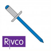Rivco Blind Rivet Large Flange Aluminium Body Steel Mandrel AF
