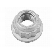 UNC 12 Point Flanged Nylon Insert Lock Nut Steel