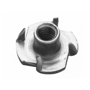Metric Coarse Four Pronged Steel Tee Nut For Wood