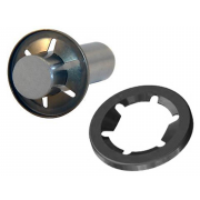 Metric Flat Round Push Nut Steel