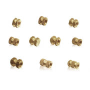 Metric Coarse Two Knurled Open Thread Inserts For Plastic Moulding Brass DIN16903B