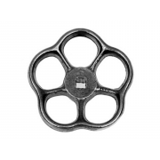 Metric Hand Wheel with square hole Aluminium DIN390