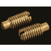 Metric Coarse Slotted Grub Screw with Dog Point Brass DIN417