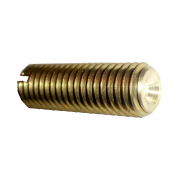 Metric Coarse Slotted Grub (Set) Screw Cup Point Brass DIN438