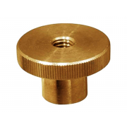Metric Coarse Round Knurled Thumb Nut Brass NF27-459