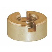 Metric Coarse Round Two Slot Nut Brass DIN546