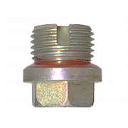 Metric Hexagon Head Plug with Melted Seal and Vent Steel DIN5586B