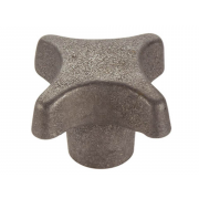 Metric Coarse Star Knob Cast Iron DIN6335K