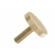 Metric Coarse Knurled Round Head Thumb Screw Low Type Brass DIN653