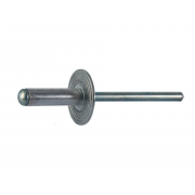 Metric Blind Pop Rivet Large Flat Head DIN7337C