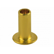 Metric Semi Tubular Flat Head Rivet Brass DIN7338B
