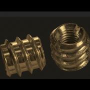 Metric Coarse Thread Insert Brass DIN7965
