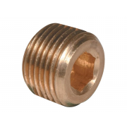 Metric Fine Socket Taper Pressure Pipe Plugs Copper DIN906M