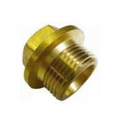 Metric Coarse Hexagon Head Flanged Parallel Pipe Plugs Brass DIN910M