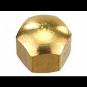 Metric Coarse Domed Hexagon Nut Low Crown Brass DIN917