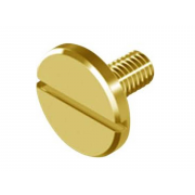 Metric Coarse Slotted Large Cheese Head Machine Screw Brass DIN921