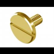 Metric Coarse Slotted Large Cheese Head Machine Screw Brass DIN921