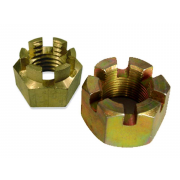 Metric Coarse Slotted and Castle Hexagon Nut Brass DIN935