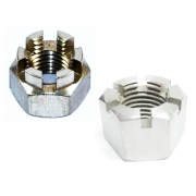 Metric Coarse Slotted and Castle Hexagon Nut Stainless-Steel-A2 DIN935