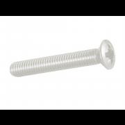 Metric Coarse Pozi Raised Countersunk Machine Screw Nylon-66 DIN966