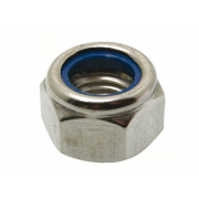 Metric Coarse Nylon Insert Self Locking Nut Thick Type P Stainless-Steel-A2 DIN982