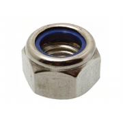 BSW Whitworth Nylon Insert Self Locking Nut Thick Type P Steel