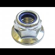 Metric Coarse Flange Nylon Insert Nut Steel
