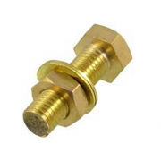 Metric Coarse Hexagon Head Set Screw  Copper DIN933