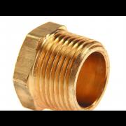 0 Hexagon Head Taper Pipe Plug Copper
