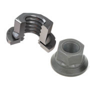 Metric Coarse Nylon Insert Locking Sems Nut Steel