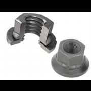 Metric Coarse Nylon Insert Locking Sems Nut Steel