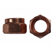 UNC Hexagon Manifold Locking Nut Copper