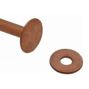 Metric Rivet Burr Washer Copper