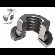Metric Coarse Hexagon Sems Nut Steel