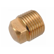 0 External Square Head Pipe Plug Copper
