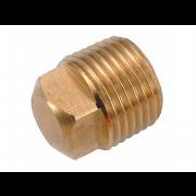0 External Square Head Pipe Plug Copper