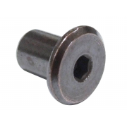 Metric Coarse Flat Head Hexagon Socket Sleeve Barrel Connector Nut Steel sex nut