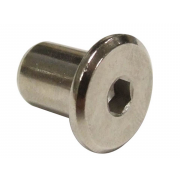 Metric Coarse Flat Head Hexagon Socket Sleeve Barrel Connector Nut Stainless-Steel sex nut