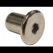 Metric Coarse Flat Head Hexagon Socket Sleeve Barrel Connector Nut Stainless-Steel sex nut