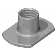 Metric Coarse Tee Nut Slab Base No Pips Or Holes Stainless-Steel