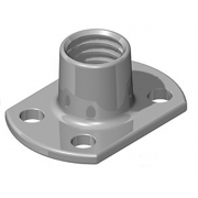 Metric Coarse Tee Nut Slab Base 2 and 4 Holes Stainless-Steel