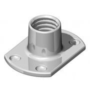 Metric Coarse Tee Nut Slab Base 4 Under Weld Pips Stainless-Steel