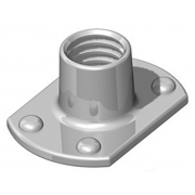 Metric Coarse Tee Nut Slab Base 4 Upper Weld Pips Stainless-Steel