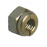 Metric Coarse Aerotight All Metal Locking Nut Thick Brass