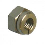 Metric Coarse Aerotight All Metal Locking Nut Thick Brass