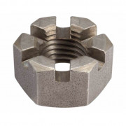 BSW Whitworth Slotted Hexagon Nut Steel BS1083