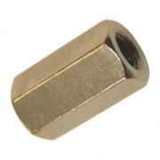 UNC Hexagon Allthread Coupling Connector 3D Brass B18.2.2