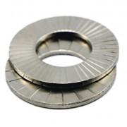 Metric Ribbed Locking Washer Pair Steel DIN25201